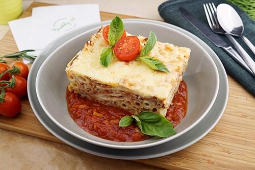 Überbackene Rigatoni mit Rindfleisch & Käse