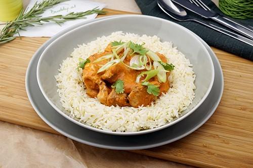 Butter Chicken Curry mit Basmati Reis