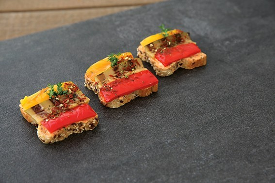 gegrilltes Gemüse mit Tomaten-Basilikumgervais