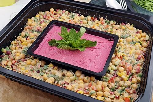 Kichererbsensalat mit Hummus