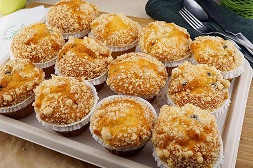 Heidelbeer-Muffins mit Zimtcrumble