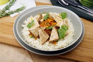 Veganes Orientalisches Gemüse mit Basmati Reis & Tofu