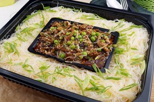 Glasnudel Teriyaki Rindfleisch Salat