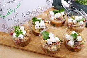 Quinoa-Rote-Rübe mit Granatapfel & Feta