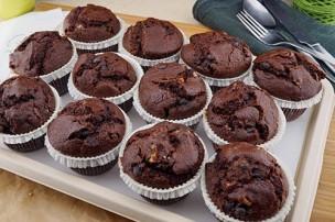 Schokoladen-Walnuss Muffins