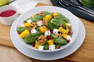 Best Healthy Salat mit Spinat & Feta