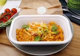 Indisches Linsen-Dal mit Fladenbrot & Joghurt