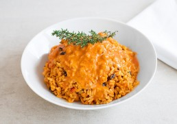 Vegane Soja-Reispfanne