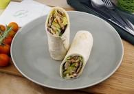Zwei Wraps Huhn & Avocado