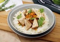 Veganer Orientalischer Reis mit Räuchertofu